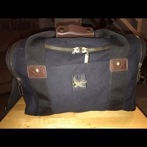 Vintage Eddie Bauer Black Canvas Duffel Bag